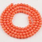 3mm 圆形橘色珊瑚