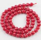 6mm刻面圆形红珊瑚