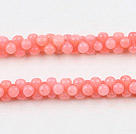 3*6mm粉色珊瑚花生