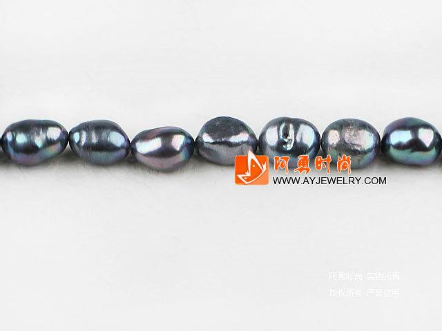 10-11mm深灰色染色巴洛克珍珠
