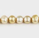 8-9mm沙色染色两面光珍珠