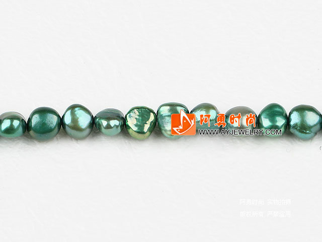 8-9mm深橄榄绿染色两面光珍珠