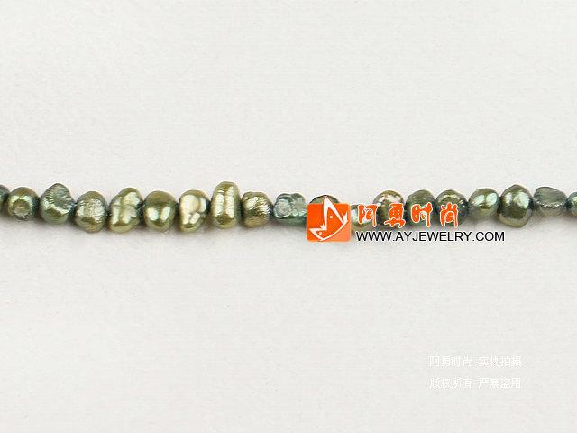 3-4mm橄榄绿染色土豆珍珠
