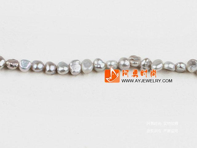 3-4mm浅灰色染色土豆珍珠
